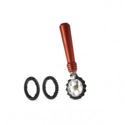 Pastahjul i rød